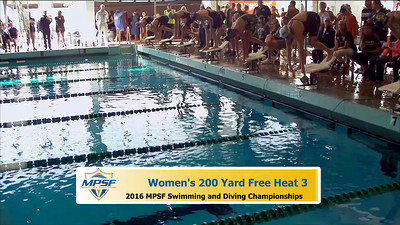19 Womens 200 Freestyle - Heat 3