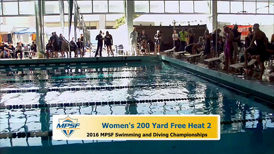 19 Womens 200 Freestyle - Heat 2