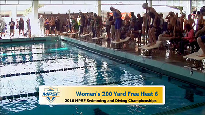 19 Womens 200 Freestyle - Heat 6