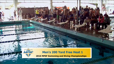 20 Mens 200 Freestyle - Heat 1