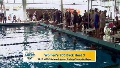 31 Womens 200 Backstroke - Heat 3