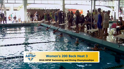 31 Womens 200 Backstroke - Heat 3