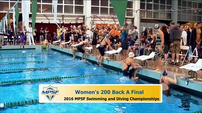 31 Womens 200 Backstroke A Final