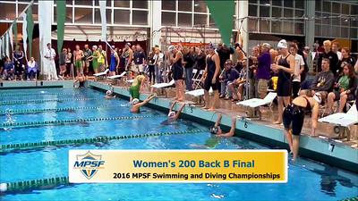 31 Womens 200 Backstroke B Final