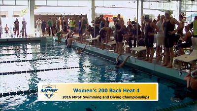 31 Womens 200 Backstroke - Heat 4