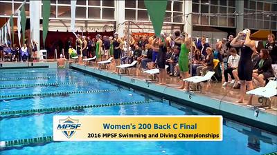 31 Womens 200 Backstroke C Final