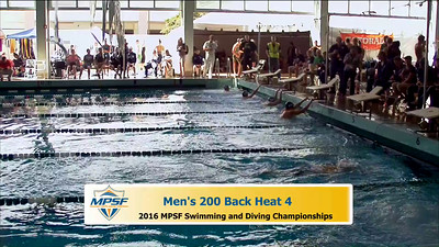 32  Mens 200 Backstroke - Heat 4