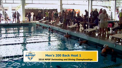32  Mens 200 Backstroke - Heat 1
