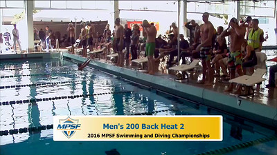 32  Mens 200 Backstroke - Heat 2