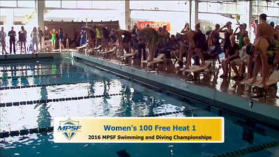 33 Womens 100 Freestyle - Heat 1