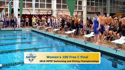 33 Womens 100 Freestyle - C Final