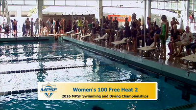 33 Womens 100 Freestyle - Heat 2