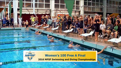 33 Womens 100 Freestyle - A Final