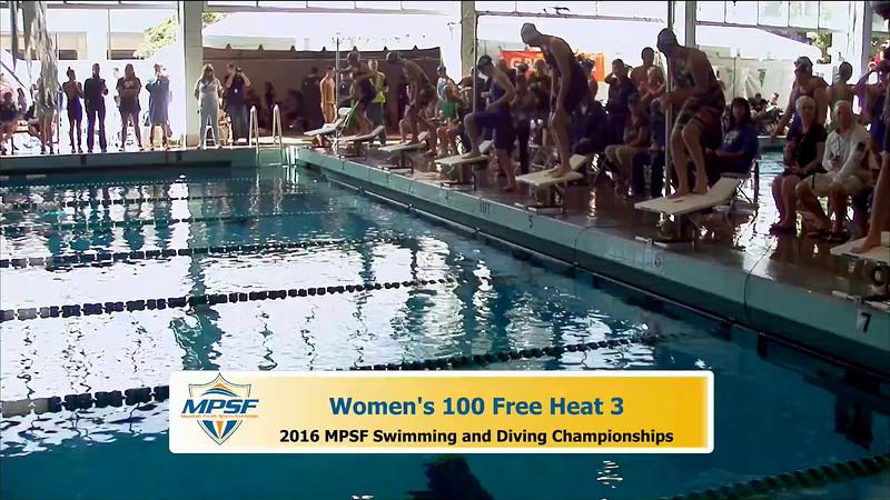 33 Womens 100 Freestyle - Heat 3