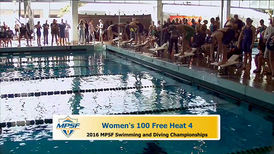 33 Womens 100 Freestyle - Heat 4