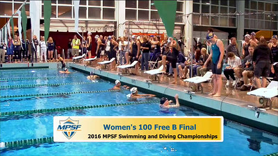 33 Womens 100 Freestyle - B Final