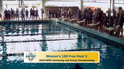 33 Womens 100 Freestyle - Heat 5