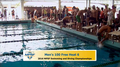 34 Mens 100 Freestyle - Heat 6