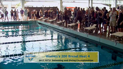 35 Womens 200 Breaststroke -  Heat 4