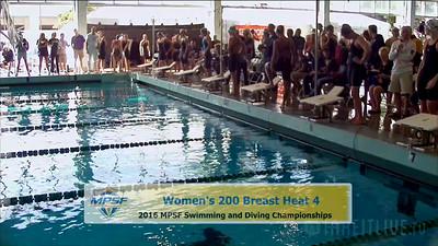 35 Womens 200 Breaststroke -  Heat 4