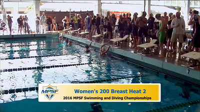 35 Womens 200 Breaststroke -  Heat 2