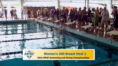 35 Womens 200 Breaststroke -  Heat 2