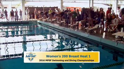 35 Womens 200 Breaststroke -  Heat 1