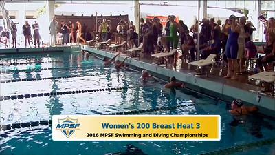 35 Womens 200 Breaststroke -  Heat 3