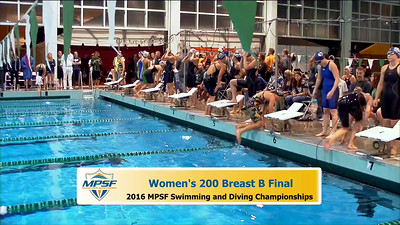 35 Womens 200 Breaststroke -  B Final