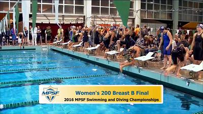 35 Womens 200 Breaststroke -  B Final