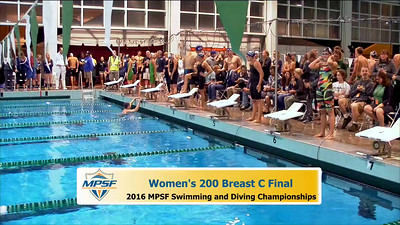 35 Womens 200 Breaststroke -  C Final