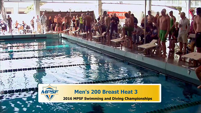 36 Mens 200 Breaststroke - Heat 3
