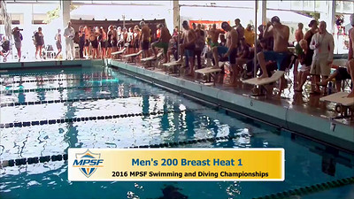 36 Mens 200 Breaststroke - Heat 1