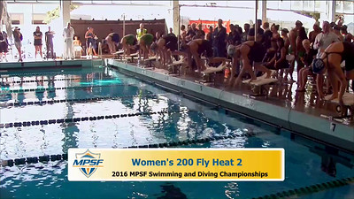 37 Womens 200 Butterfly - Heat 2