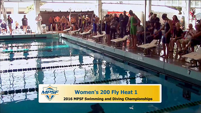 37 Womens 200 Butterfly - Heat 1