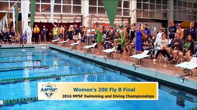 37 Womens 200 Butterfly - B Final