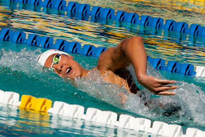 Tae Hwan Park takes first place and establishes new meet record with a 7:52.07 at the 45th annual Santa Clara Grand Prix
