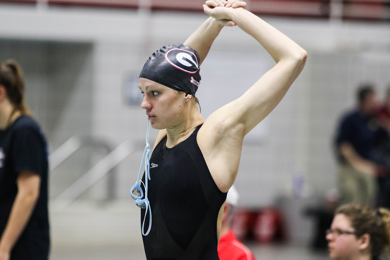Georgia's Rachel Zilinskas during the Georgia Fall Invitational at the Gabrielsen Natatorium on Friday, Dec. 2, 2016. (Photo by Cory A. Cole)