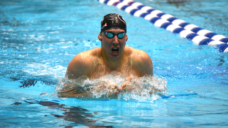 Georgia swimmer Chase Kalisz during the NCAA Men's Swimming and Diving Championships at the Indiana University Natatorium in Indianapolis, Ind., on Friday, March 24, 2017. (Photo by Steven Colquitt)