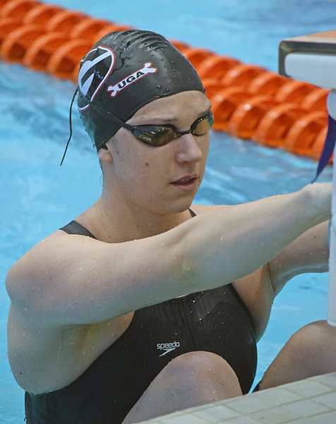 Chantal Van Landeghem, UGA Women's Swimming and Diving Team 2012-2017, Landeghem competes during the SEC Championships at the Allan Jones Intercollegiate Aquatic Center in Knoxville, TN, on Friday, 02/17/2017.  (Photo by Steven Colquitt/Georgia Sports Communication)