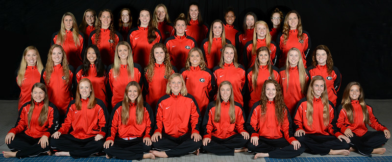 Georgia women's swimming and diving team (photo from Georgia Sports Communications)