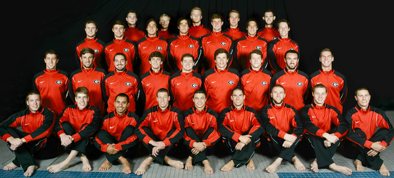 Georgia men's swimming and diving team (photo from Georgia Sports Communications)