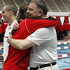 Georgia Swimming and Diving seniors before their meet against Tennessee at Gabrielsen Natatorium in Athens, Ga., on Saturday, Jan. 20, 2018. (Photo by Steffenie Burns)