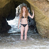 Swimsuit Bikini Model with Blonde Dreadlocks in Sea Cave !