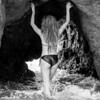 Nikon D800 E Photos of Swimsuit Bikini Model with Blonde Dreadlocks in Sea Cave !