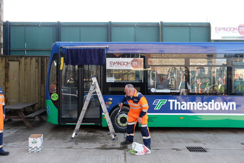 Getting ready to show off the Thamesdown buses ar Steam, Swindon