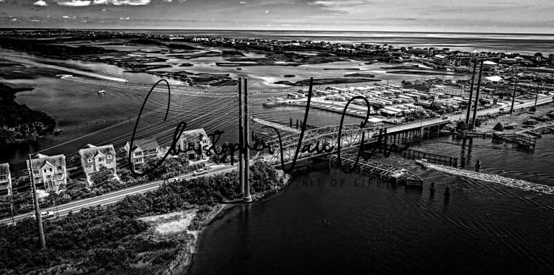 Aerial Photos of Topsail Beach Swing Bridge