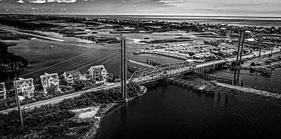 Aerial Photos of Topsail Beach Swing Bridge