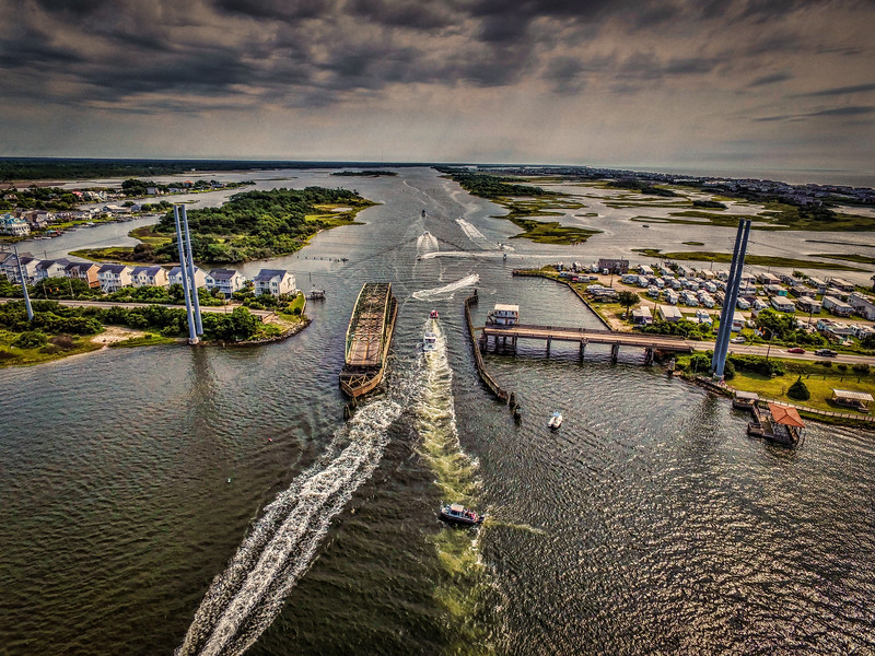Opened Topsail Swing Bridge
