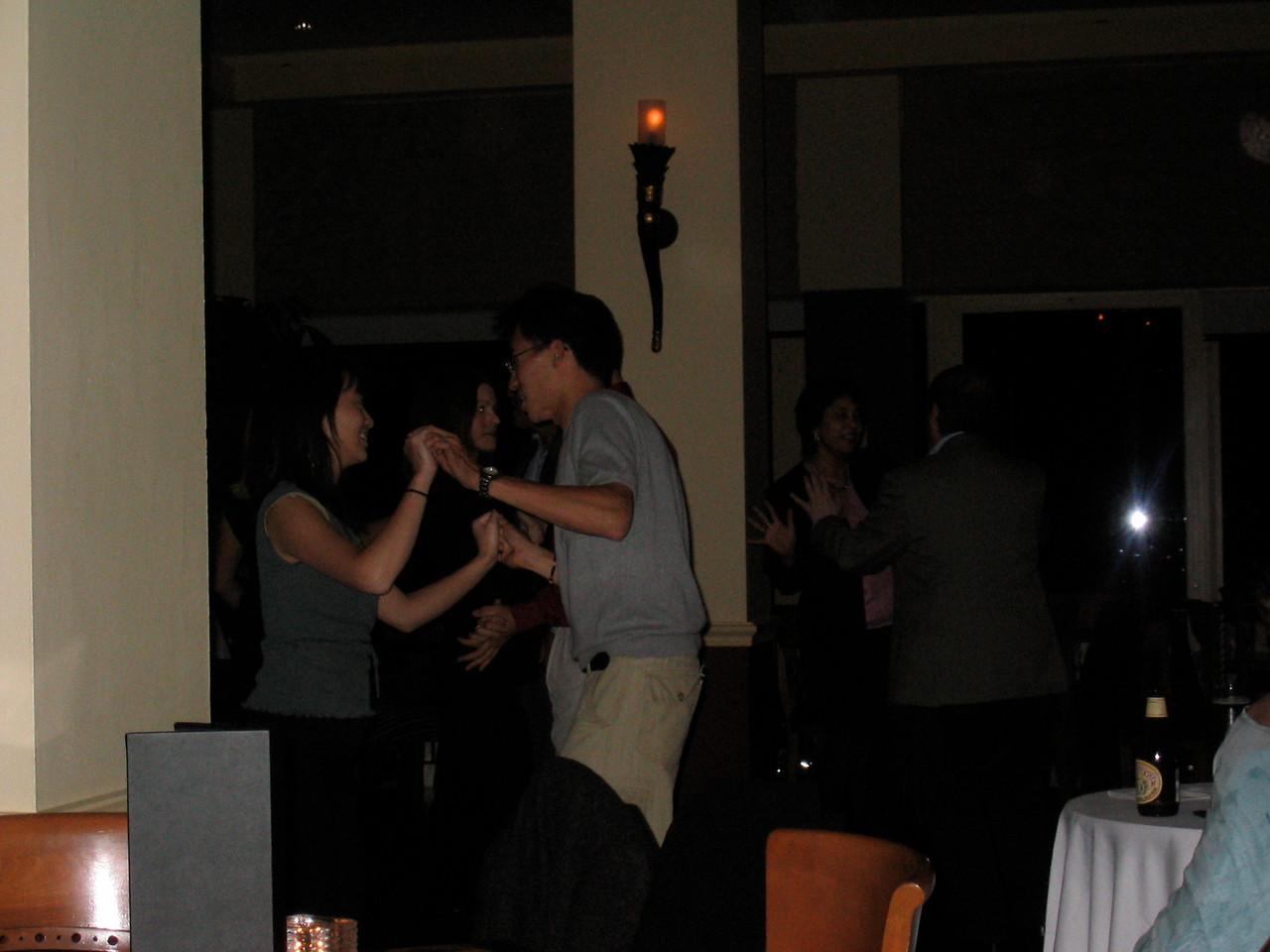 2004 06 11 Friday - Top of The Mark - Estee & Ben on the floor